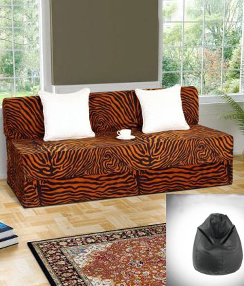 bean bag sofas india futon queen size sofa cum bed folding with free cover xxl buy online at best