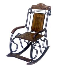 Onlineshoppee Fancy Wrought Iron Decorative Rocking Chair ...