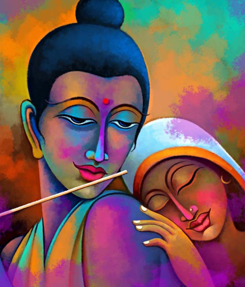 Art Factory Radha Krishna Canvas Painting Religious Painting Buy Art Factory Radha Krishna Canvas Painting Religious Painting At Best Price In India On Snapdeal