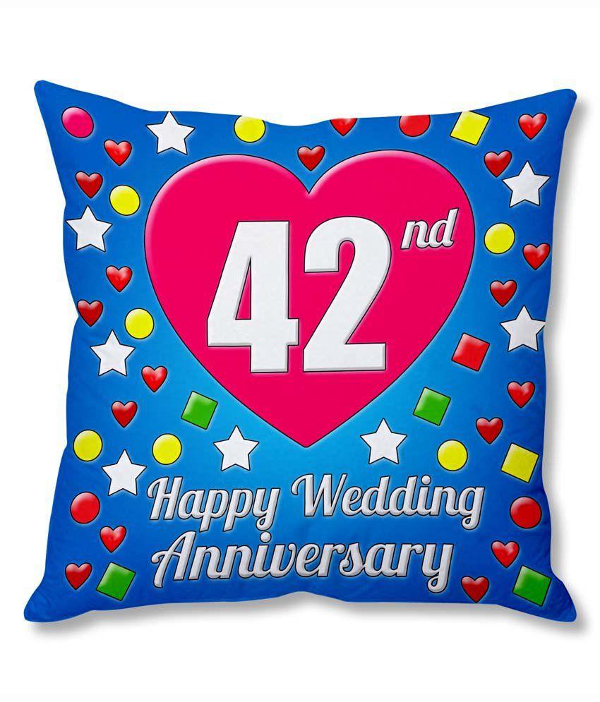 Photogiftsindia 42nd Wedding Anniversary Cushion Cover ...