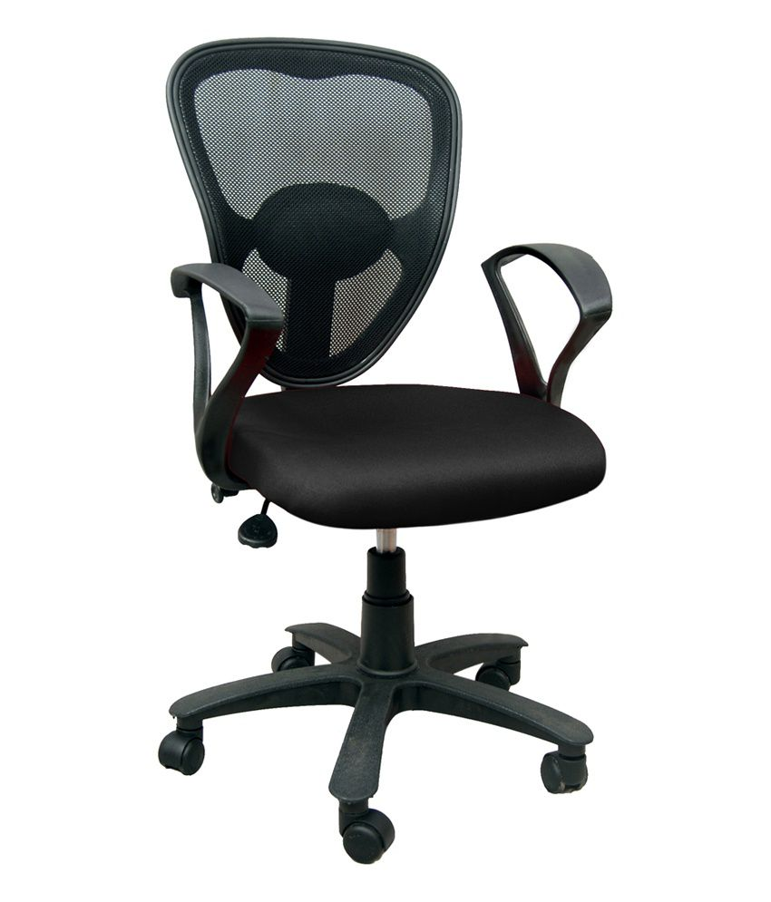 revolving chair india walmart outdoor lounge chairs office in black - buy online at best prices ...