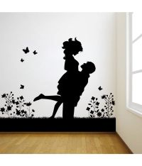 Decor Kafe Black Decal Style Lovely Couple Wall Sticker ...