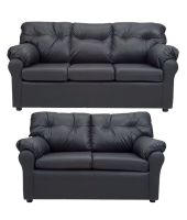 Elzada 5 Seater Sofa Set 3+2 in Black   Buy Elzada 5 ...