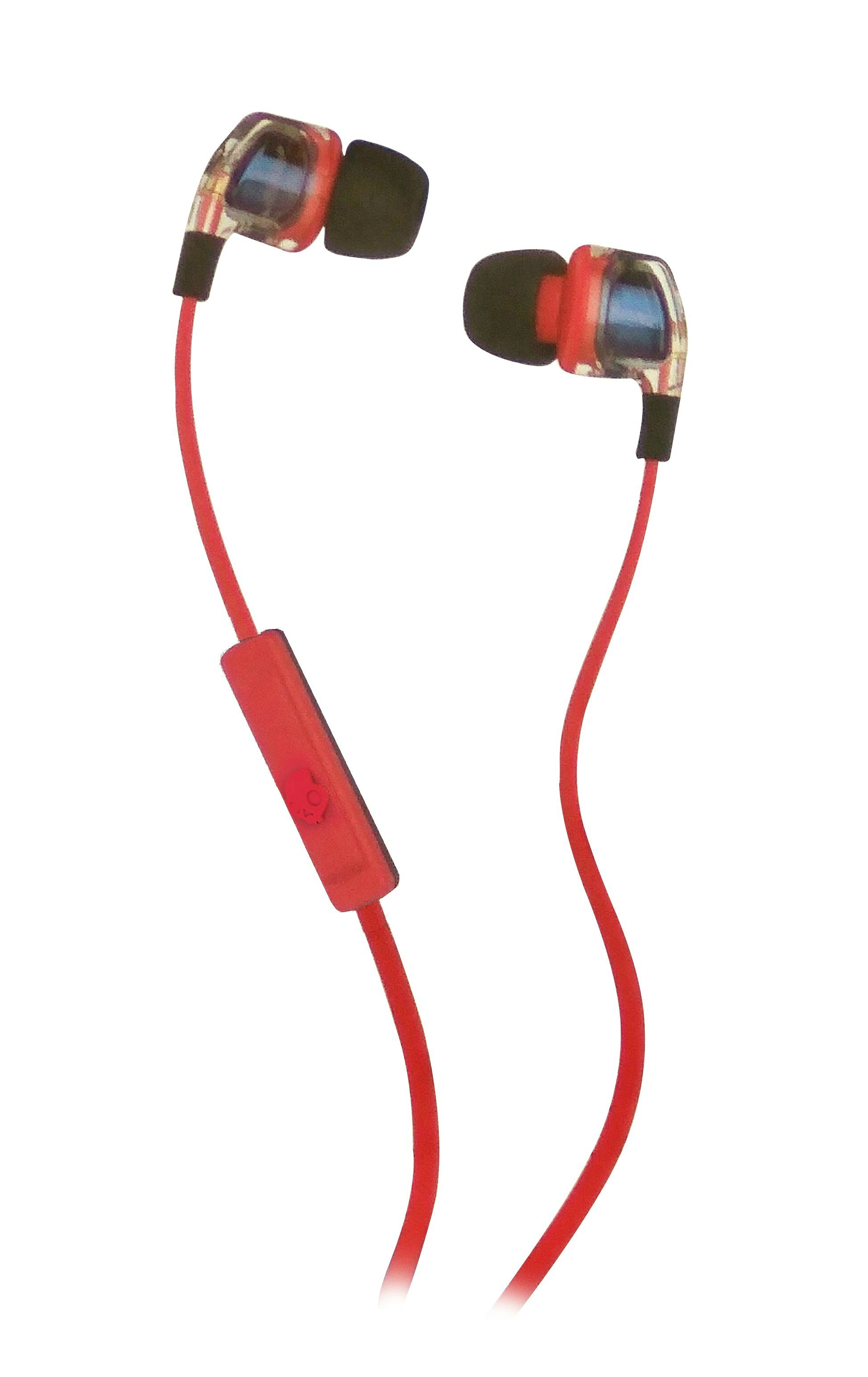 hight resolution of skullcandy smokin bud 2 s2pggy 391 in ear earphones with mic red and blue with mic