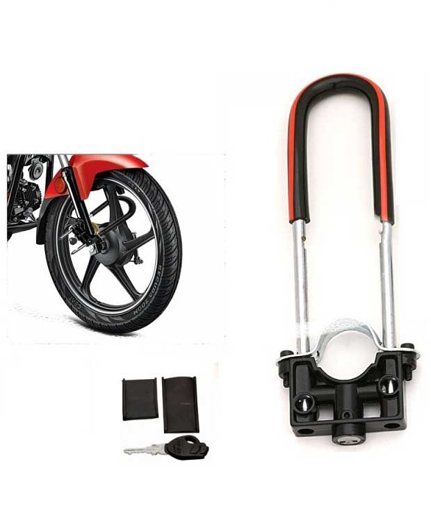 Autostark Bike Front Wheel Lock And shocker Lock For