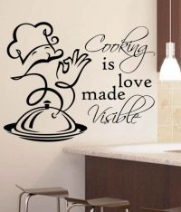 Vsquarestudio Black Pvc Kitchen Wall Sticker