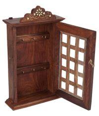 Zitter Brown Wooden Key Holder Box: Buy Zitter Brown ...