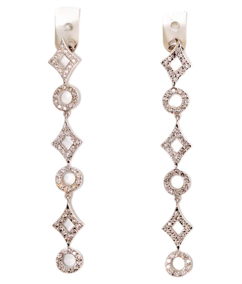 Sakshi Silver Designer Hanging Earrings available at