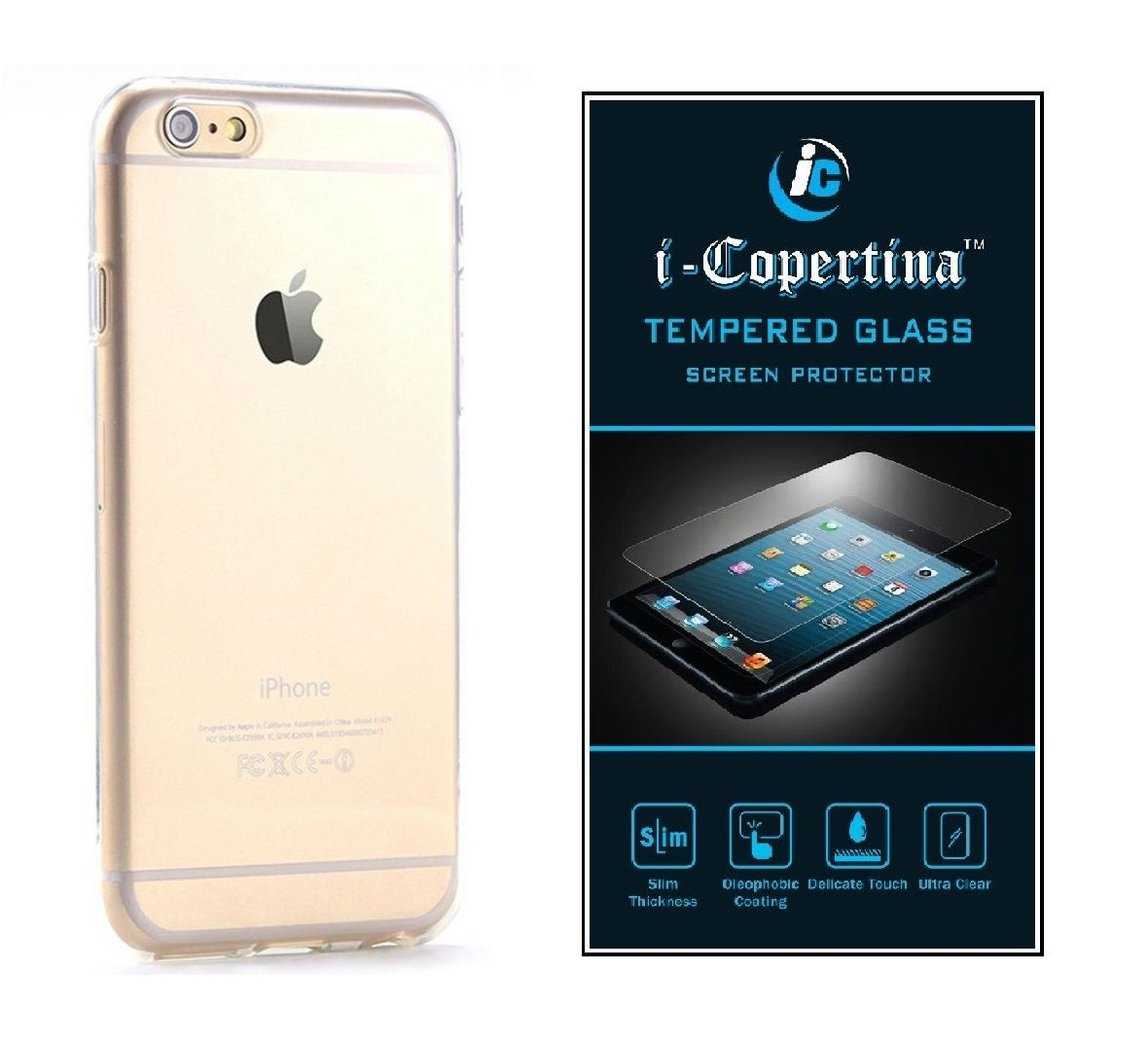 Apple Iphone 7 Transparent Back Cover And Tempered Glass Combo Set By Icopertina Mobile Cover Combos Online At Low Prices Snapdeal India