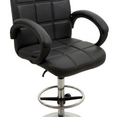 Revolving Chair For Kitchen Office Depot In Black