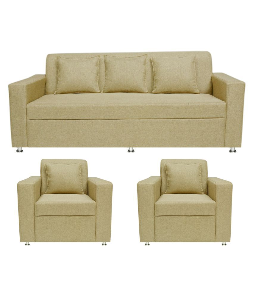 Sofa Set Pictures India Bharat Lifestyle Lexus Fabric 3+1+1 Sofa Set - Buy Bharat
