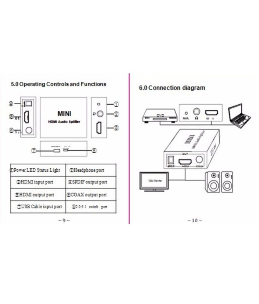 hight resolution of  high quality hdmi to hdmi optical spdif suppport 5 1 audio video extractor converter splitter adapter