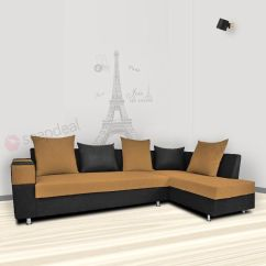 Indian L Shaped Sofa Design Suede Adorn India Adillac Fabric Shape Buy Online At Best Prices In On Snapdeal