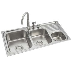 Triple Kitchen Sink Used Commercial Equipment For Sale Buy Anupam Stainless Steel Bowl With Drainboard Online