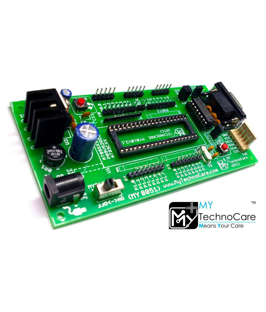 medium resolution of atmel 8051 development board max232 without at89s52 microcontroller ic support 89s51 xx