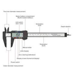 electronic gauge ruler digital digital caliper electronic gauge ruler digital digital caliper  [ 850 x 995 Pixel ]