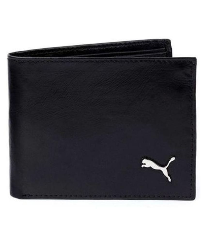 Puma Leather Black Casual Short Wallet