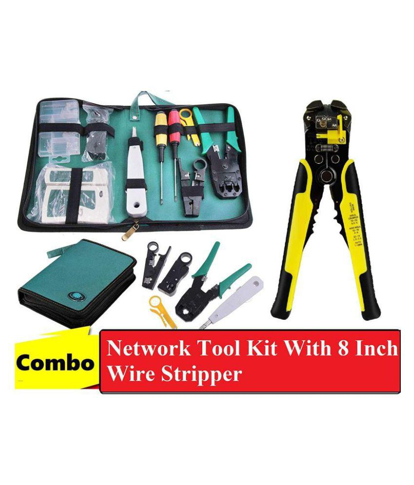 hight resolution of techtest network tool kit with automatic 8 inch wire stripper cutter cable stripping crimper tester