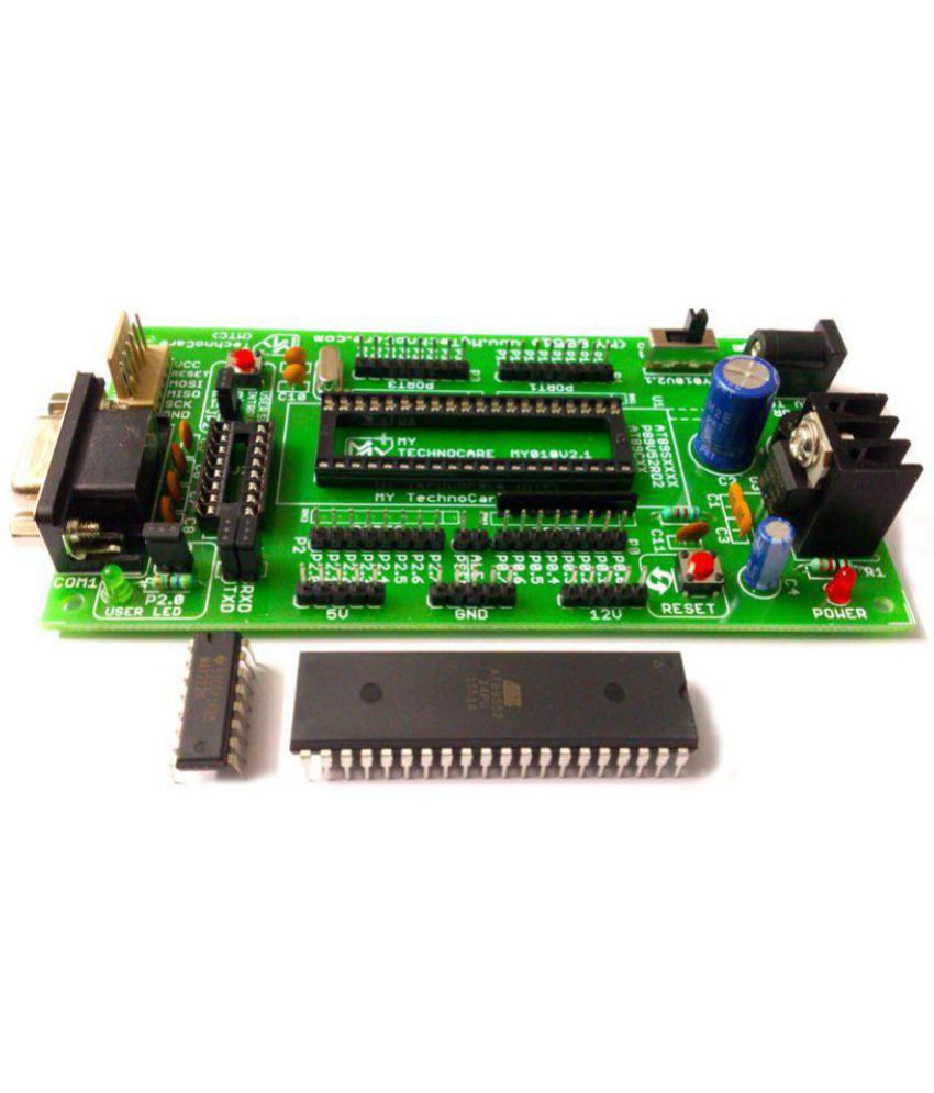 hight resolution of  my technocare atmel 8051 development board project evaluation kit max232 at89s52 microcontroller ic