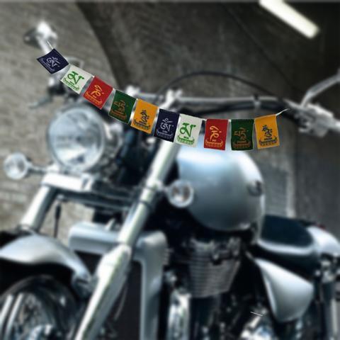 Spedy Tibetan Buddhist Bike Prayer Flag For Royal Enfield Hero Honda Pulsar