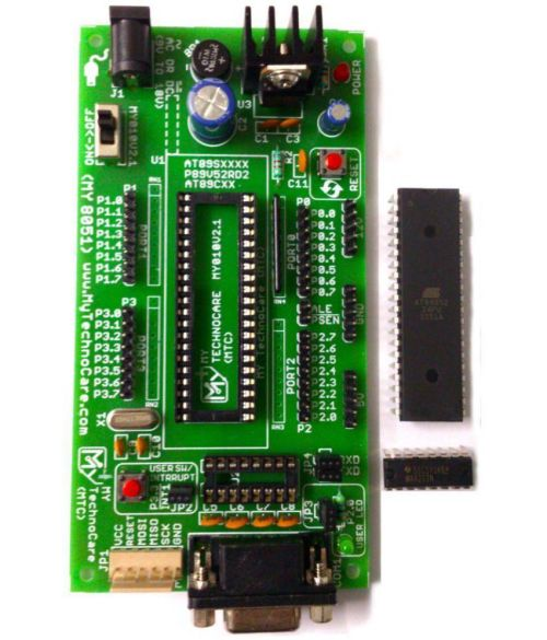 small resolution of  my technocare atmel 8051 development board project evaluation microcontroller kit max232 at89s52 ic