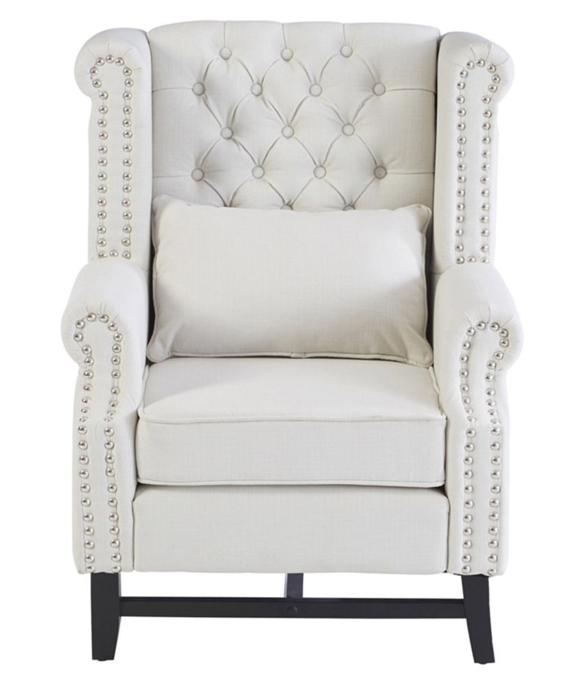 White Wing Chair Ripplewoods Tufted Wing Chair In Off White Colour