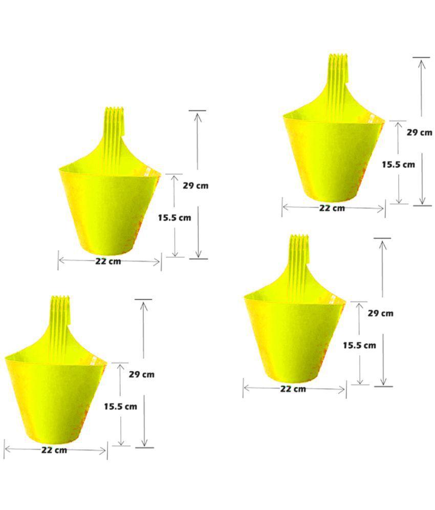 hight resolution of royal garden plants plastic hanging set of 4 plastic yellow both flower pot