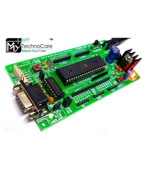 small resolution of 8051 microcontroller development board project evaluation kit max232 atmel at89s52 ic support at89s51