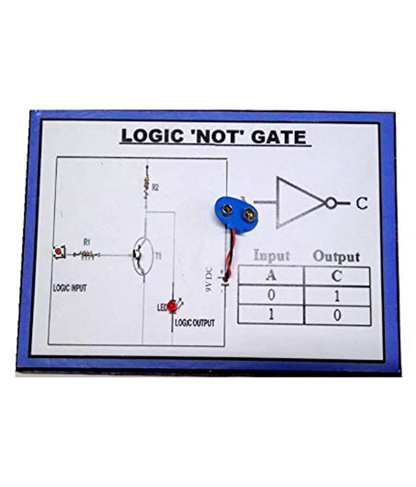 hight resolution of melody s logic not gate physics science working model buy melody s logic not gate physics science working model online at low price snapdeal