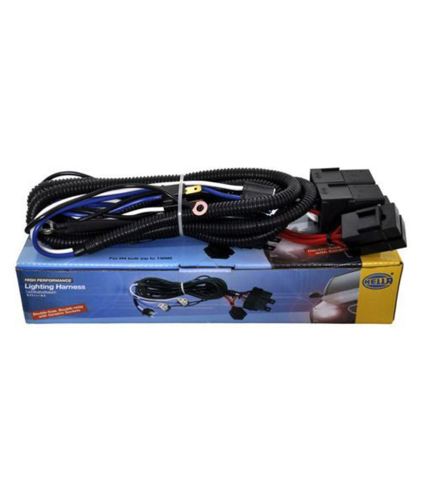 hight resolution of  hella headlamp wiring harness 100 130w max with relay for high performance