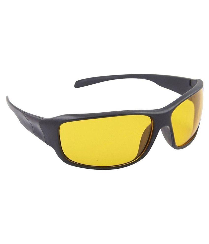 Pc - Yellow Wrap Around Sunglasses ( 2525 ) - Buy Pc ...