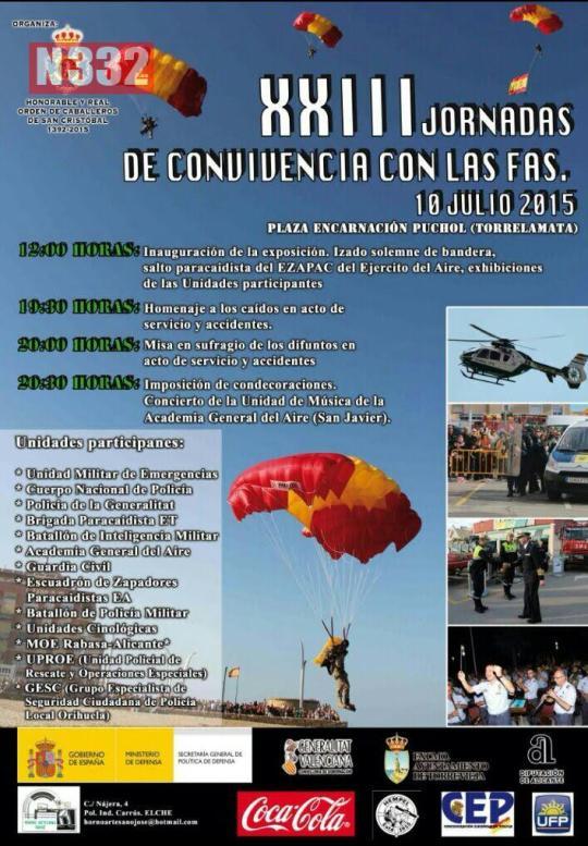 20150708 - Military Honoured in La Mata on Friday