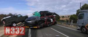 Truck Crash Blocks Motorway