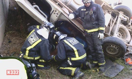 Accidente furgoneta  RM 11 2