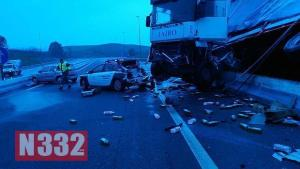 Truck Smashes into Patrol Car