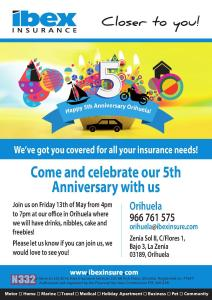 Ibex Insurance Celebrating 5 Years in La Zenia