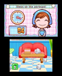 Cooking Mama 4 Clean garbage