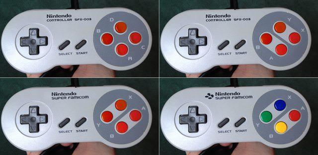 Prototipos del mando de SNES