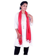 Ayanna Red Viscose Shawls Price in India - Buy Ayanna Red ...