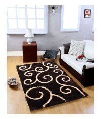 My House Brown Polyester Geometrical Carpet - Buy My House ...