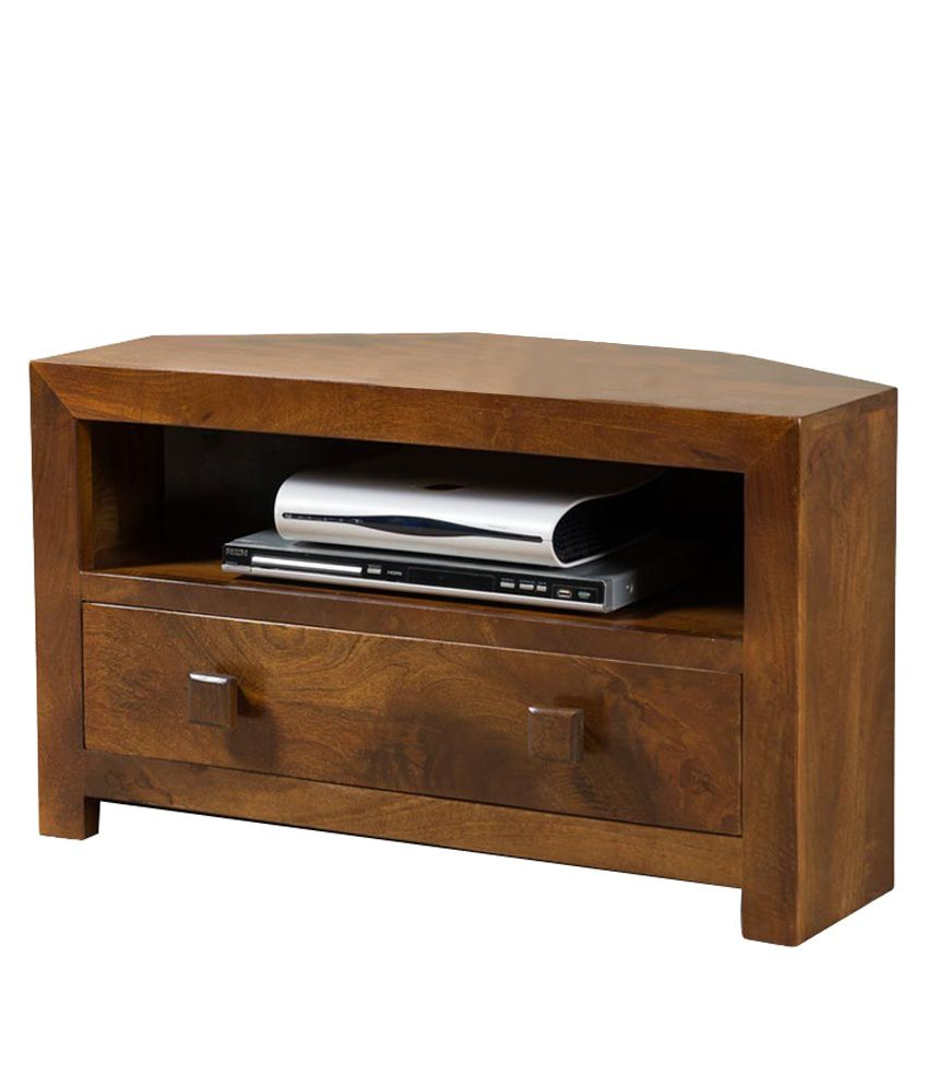 Small TV Corner Stand in Brown