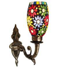 Handicraft Kottage Off-White 18 Watts Brass Antique Golden ...
