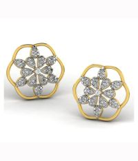 His & Her Contemporary 18kt Gold Studs Earrings: Buy His ...