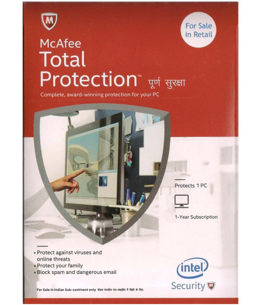 McAfee Total Security 2015 ( 1 PC/ 1 Year) CD