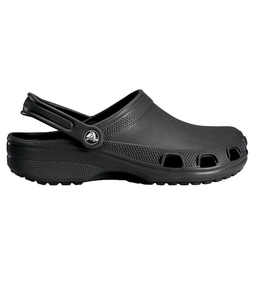 Crocs Roomy Fit Rx Relief Black Clog - Buy Crocs Roomy Fit ...