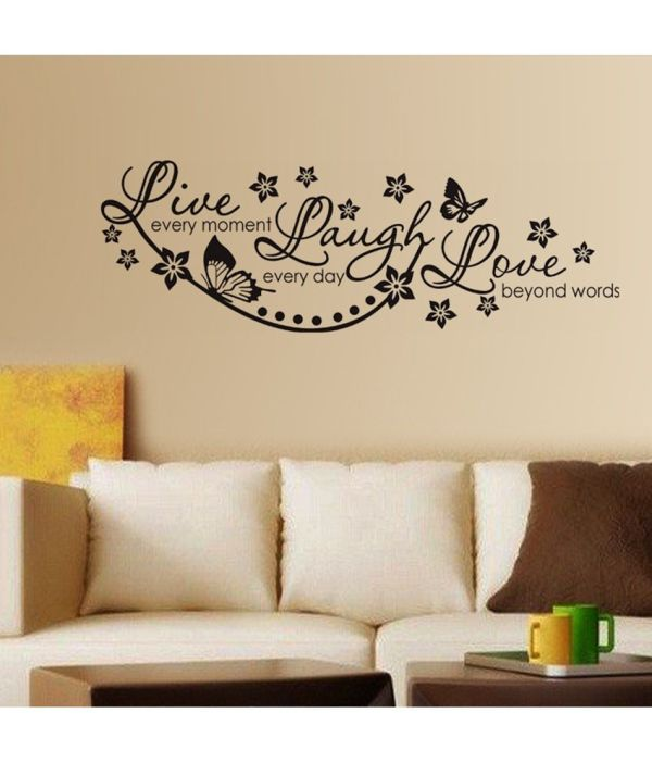 Stickerskart Live Laugh And Love Wall Quote Family