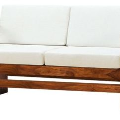 Simple Wooden Sofa Set Online Sam And Cat Stuck In The Bed Buy Two Seater Sheesham Wood Get 2 Single Free