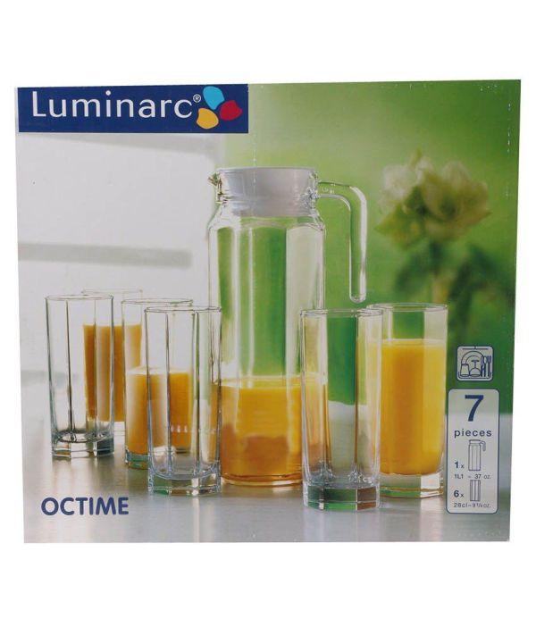 Luminarc Transparent Jug And 6 Glass Set Online