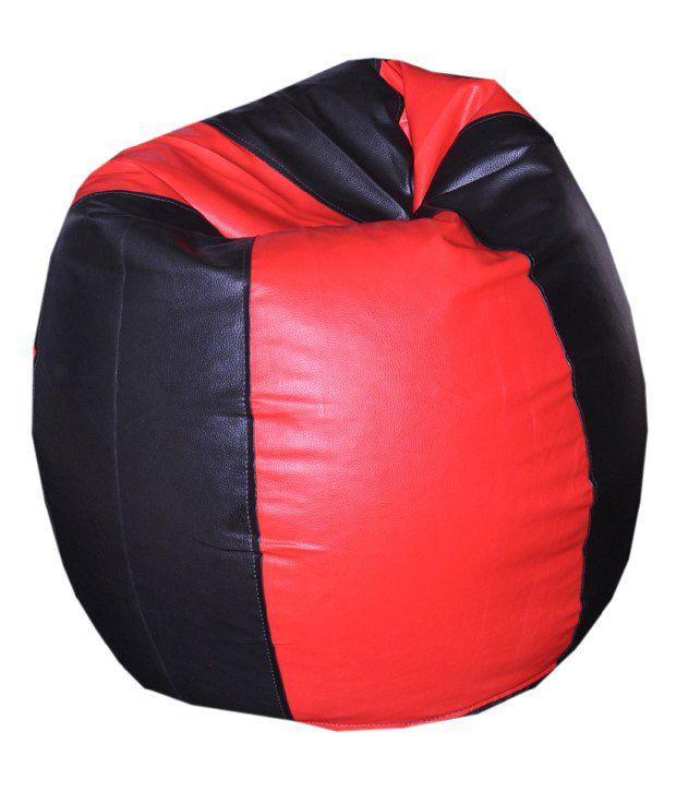 Comfy Bean Bag Biggie Bean Bag Xxl Size Black And Red Best