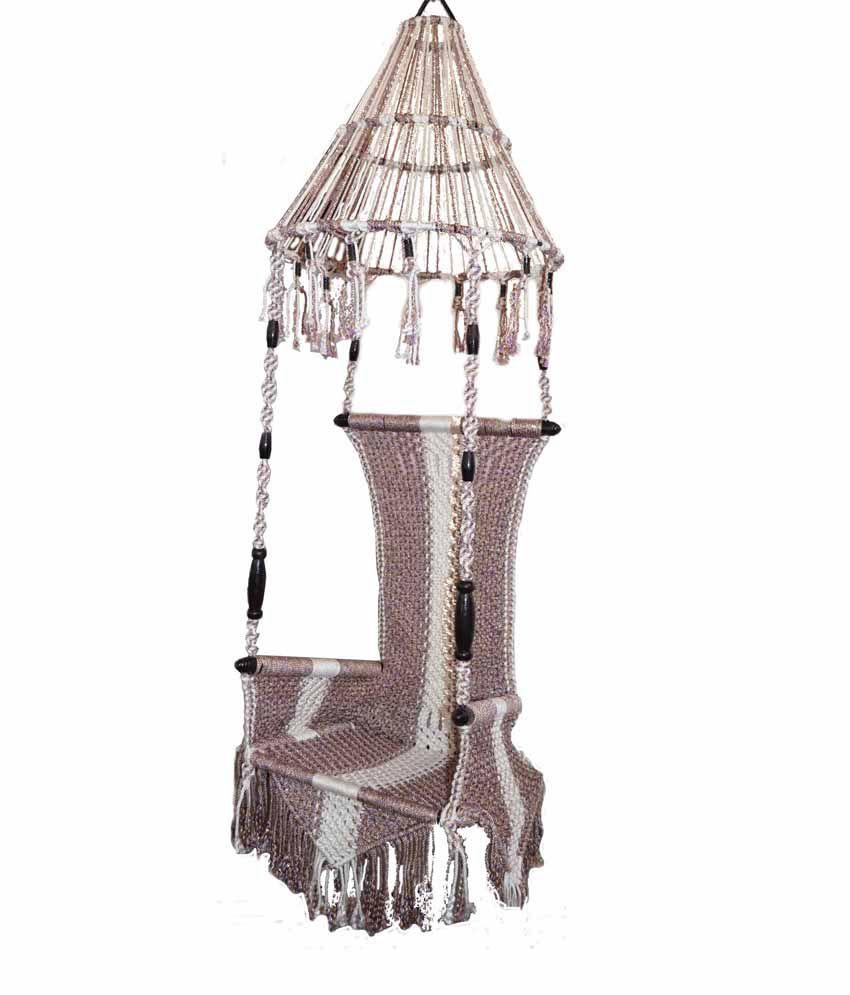 hanging chair installation rocking with cushions kaushalendra hammocks cotton zummar nylon single patio indoor rope swing seat ...